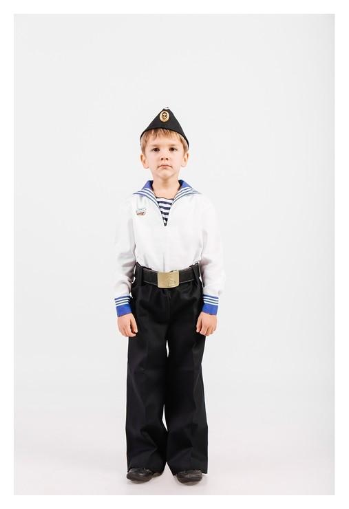 Костюм моряка: фланка, тельняшка, брюки, пилотка, ремень, рост 98 см  Сын полка