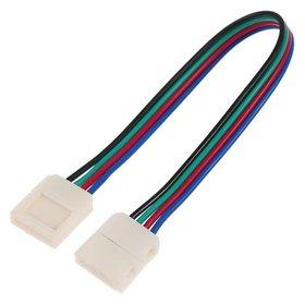 Соед. кабель Ecola Led, с двумя 4-х конт.,разъемами, 10 мм, 15 см. 1 шт.  Ecola
