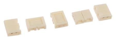 Разъем зажимной Ecola Led, 2-х контактный, 8 мм. набор 5 шт.  Ecola