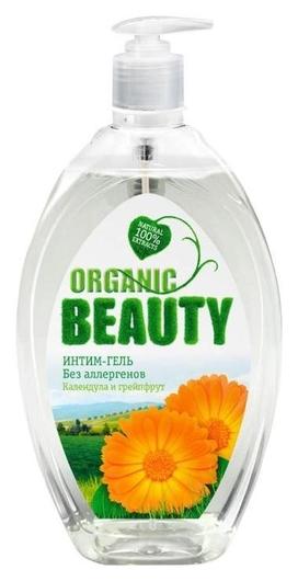 Гель для интимной гигиены Organic Beauty, календула и гейпфрут, 500 мл  Organic Beauty Farm