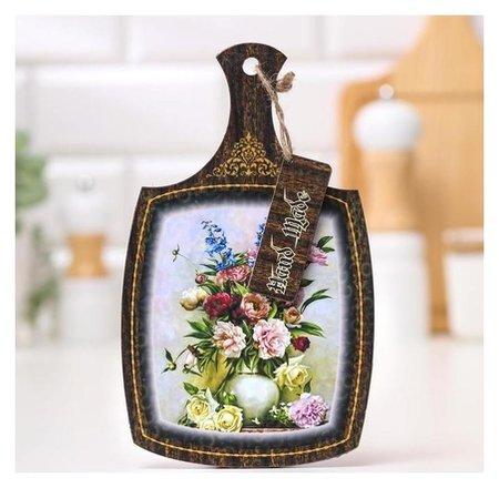 Доска декоративная Светлый цветочный набор, 22,6х13,5х0,5 см NNB