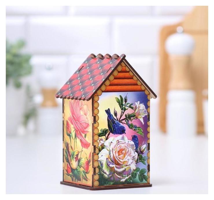 """Чайный домик """"Птичий домик в саду"""",17х10,5х9 см  NNB"""