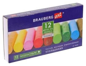 Пастель масляная 12 цветов, Brauberg Art Classic, утолщенная  Brauberg