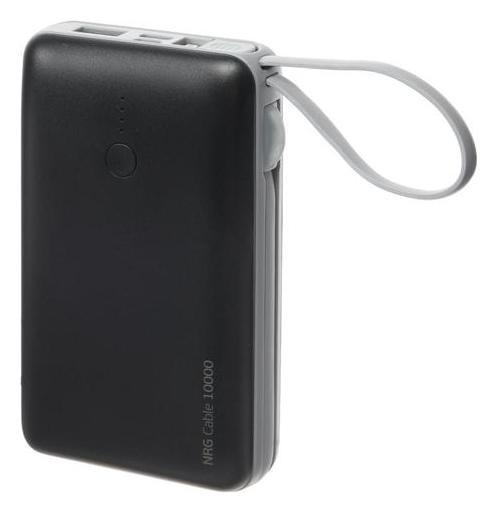 Внешний аккумулятор Deppa NRG Cable, 10000 мач, 2.1 A, серый Deppa