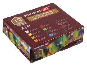 Краски масляные в тубах, набор 12 цветов х 22 мл, Brauberg Art Premiere, художественные  Brauberg