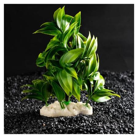 Растение искусственное аквариумное, 12,5 х 10 х 14 см  КНР