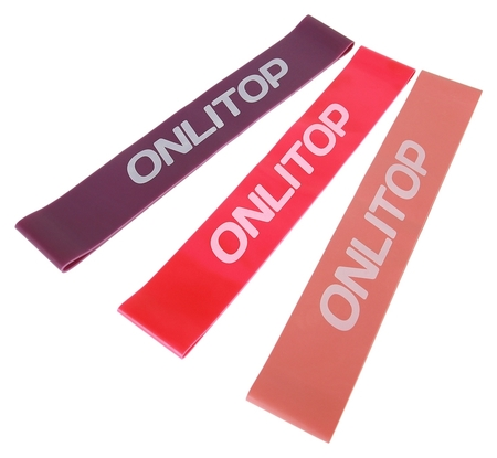 Набор из 3 фитнес-резинок  Onlitop