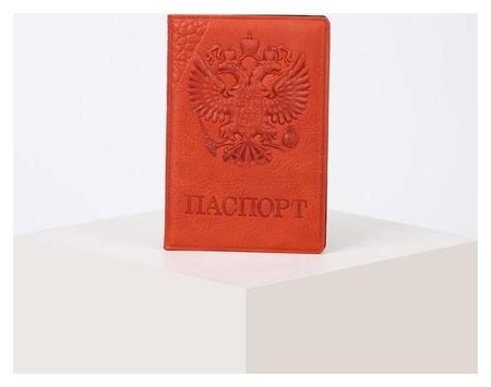 Обложка для паспорта, цвет рыжий  NNB