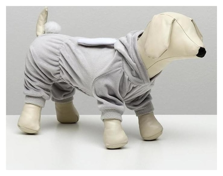 """Комбинезон """"Зайка"""" для собак, XS (ДС 18-20 см, ОШ 24 см, ОГ 30-32 см), серый  NNB"""