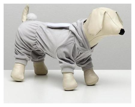 """Комбинезон """"Зайка"""" для собак, S (ДС 20-22 см, ОШ 26 см, ОГ 32-34 см), серый  NNB"""