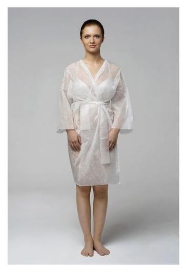 """Халат """"Кимоно"""" SMS люкс с рукавами, белый, 5 шт  Чистовье"""