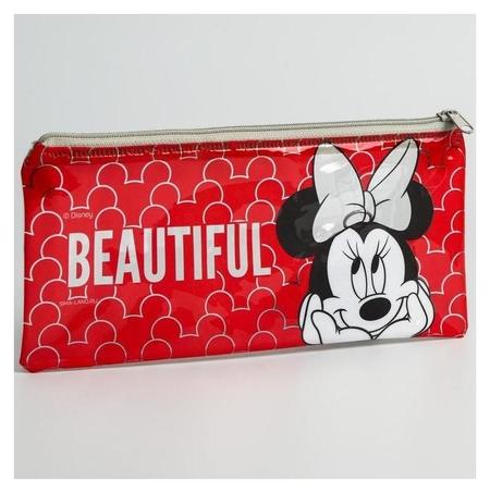 """Пенал """"Beautiful"""", плоский 20,5*9,5 см  Disney"""