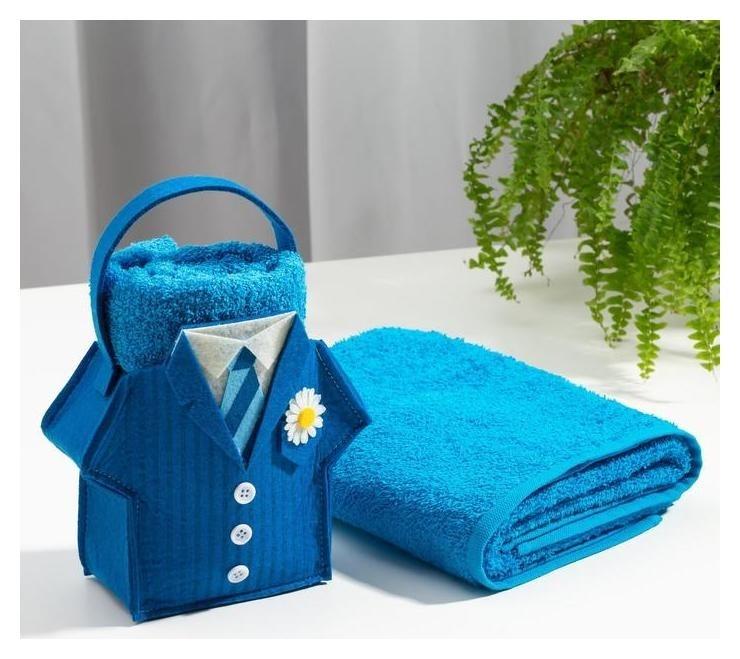 Полотенце в корзинке «Бизнесмен» 50х90 см  Этель