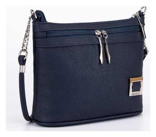 Сумка женская, отдел на молнии, длинный ремень, наружный карман, цвет синий  Janelli