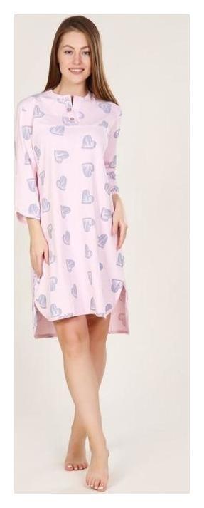 Сорочка женская, цвет светло-розовый, размер 54  Руся