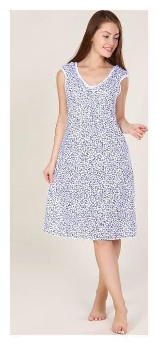 Сорочка женская, цвет голубой, размер 56 Руся