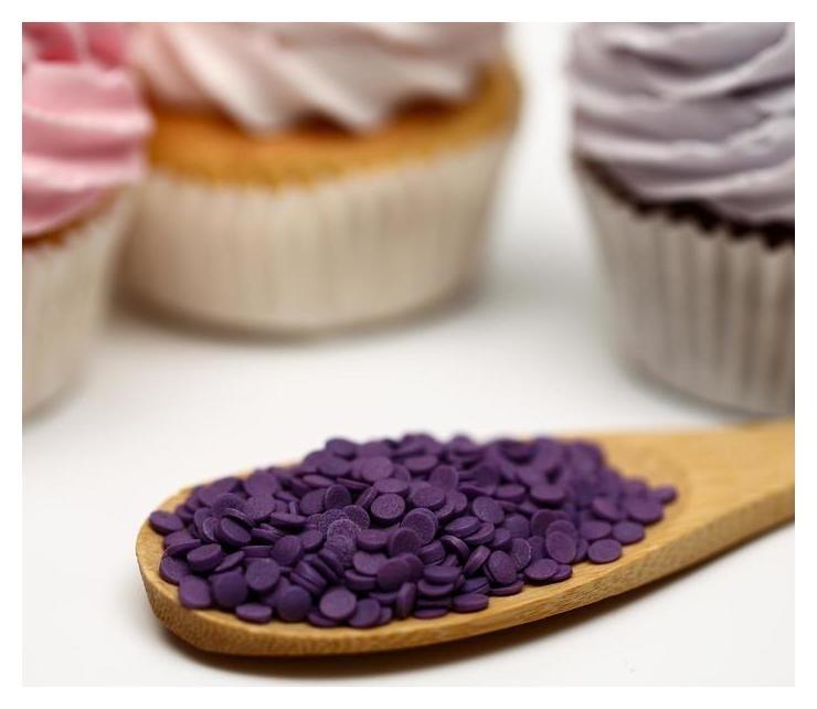 Кондитерская посыпка Конфетти фиолетовая, пакет, 50 г NNB