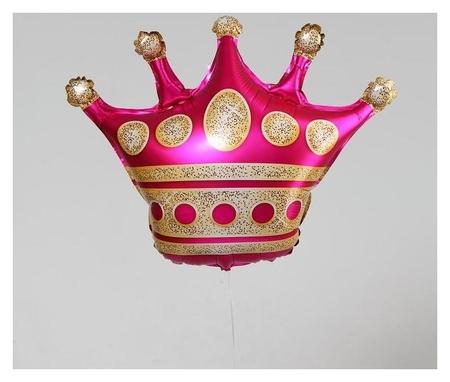 """Шар фольгированный 24""""""""корона"""", цвет розовый  NNB"""
