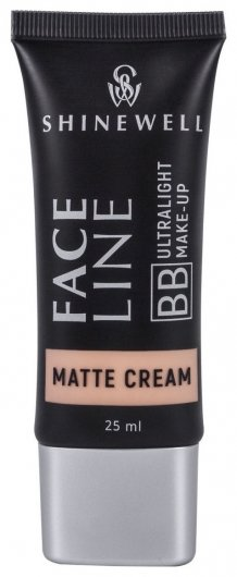 Матовый тональный BB крем для лица  Shinewell