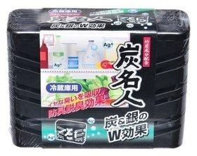 Поглотитель неприятных запахов и плесени на основе древесного угля с ионами серебра для холодильников (общая камера)  Kokubo