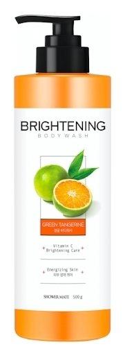 Гель для душа с витамином C Заряд энергии Зеленый мандарин  Shower Mate