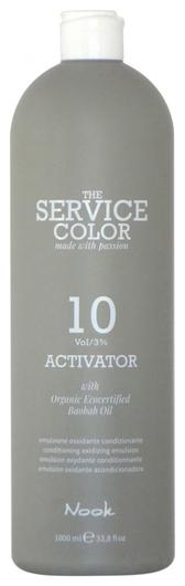 Активатор для окрашивания волос 10 vol 3%  Nook