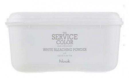 Осветляющая пудра для волос белоснежная White Bleaching Powder Dust-free  Nook