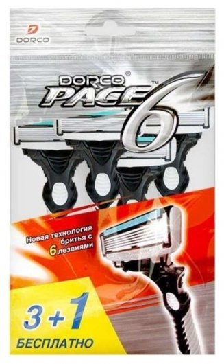 Одноразовые станки для бритья с 6 лезвиями Sxa100  Dorco