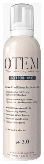 Мусс-кондиционер протеиновый Восстановление для ломких и химически обработанных волос Restoration for brittle and chemically treated hair  Qtem