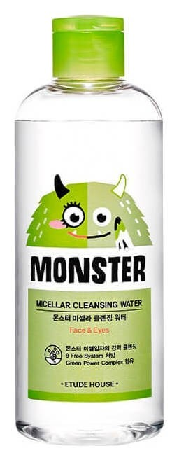 Мицеллярная вода для снятия макияжа с экстрактом алоэ Micellar Cleansing Water Etude House Monster