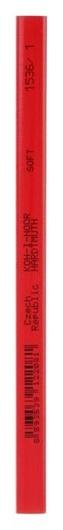 Карандаш незаточенный 5.0 мм, Koh-i-noor 1536/1 HB, столярный, чёрнографитный, L= 175 мм  Koh-i-noor