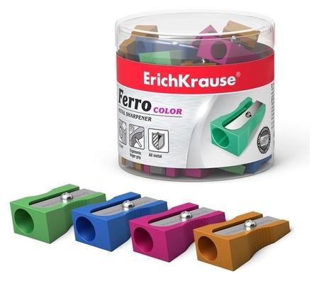 Точилка металлическая 1 отверстие Erich Krause Ferro Color алюминий, отверстие диаметром 8 мм  Erich krause