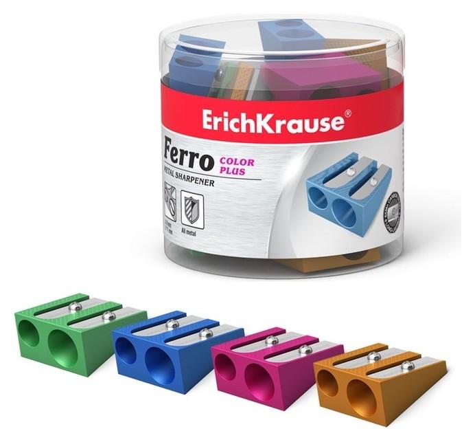 Точилка металлическая 2 отверстия Erich Krause Ferro Plus алюминиевая, отверстия диаметром 8 мм и 11 мм  Erich krause