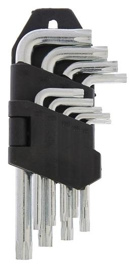 Набор ключей Lom, Torx Tamper, Tt10 - Tt50, 9 шт.  LOM