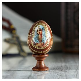 """Яйцо сувенирное """"Богоматерь умиление"""", на подставке"""