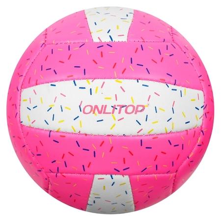 Мяч волейбольный Onlitop «Пончик», размер 2, 150 г, 2 подслоя, 18 панелей, Pvc, бутиловая камера  Onlitop