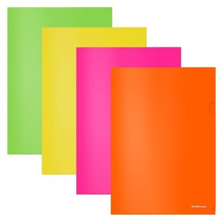 Папка-уголок А4, Erich Krause Glossy Neon  Erich krause