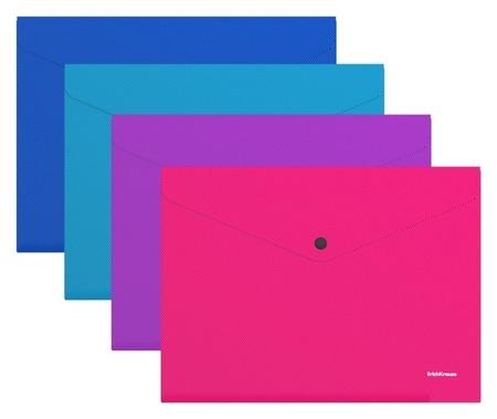 Папка-конверт на кнопке А4 Erichkrause Diagonal Vivid, непрозрачная, 50316  Erich krause