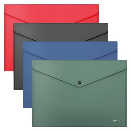Папка-конверт на кнопке А4, Erichkrause. Fizzy Classic, непрозрачная  Erich krause