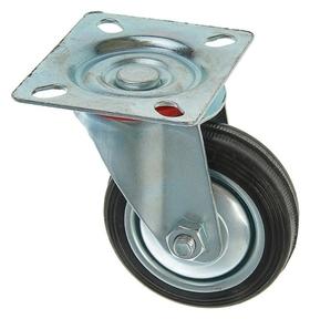 Колесо для транспортных тележек, D=75 мм, на площадке