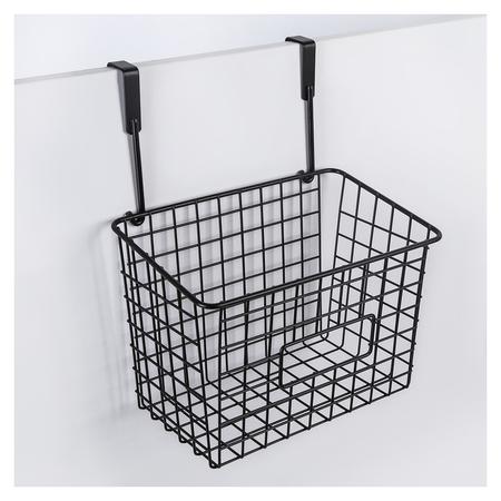 Корзина подвесная доляна, 23×15,5×30,5 см, цвет чёрный  Доляна