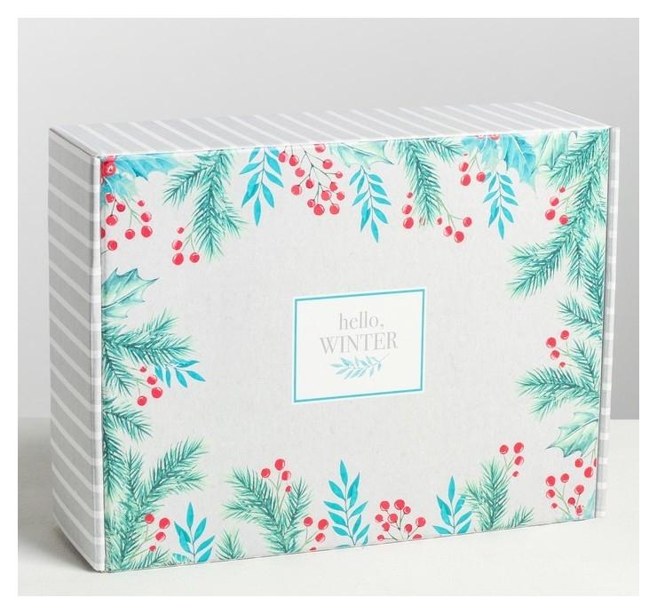 Складная коробка Hello, Winter, 30.7 × 22 × 9.5 см Дарите счастье