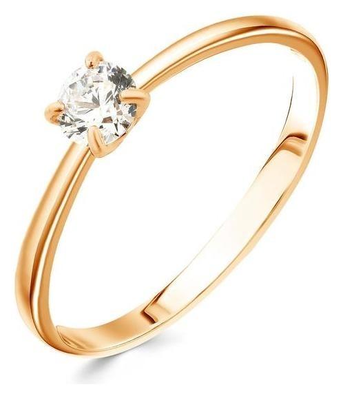 Кольцо Принцесса сияние, позолота, размер 16 Алмаз-холдинг