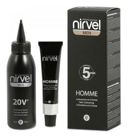Мужской краситель-камуфляж для волос  Nirvel