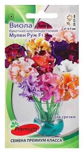 "Семена цветов виолла букетная крупноцветковая ""Мулен Руж"" F1  Premium Seeds"