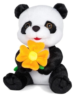 Мягкая игрушка «Панда с цветочком» озвученная, 22 см