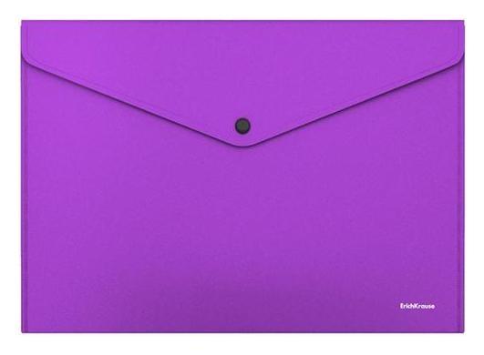 "Папка-конверт на кнопке А4 Erichkrause ""Matt Vivid"", непрозрачная, 160 мкм, бирюзовая  Erich krause"