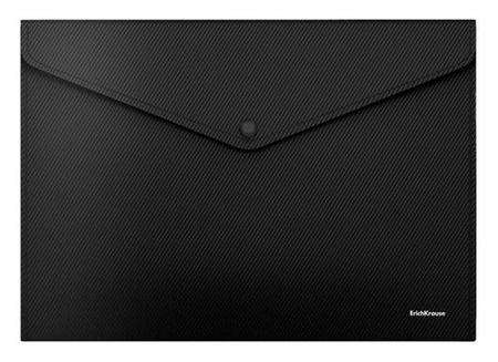 """Папка-конверт на кнопке А4 Erichkrause """"Diagonal Classic"""", непрозрачная, 160 мкм, черная  Erich krause"""