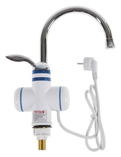 Кран-водонагреватель Luazon Lht-02, проточный, 3000 Вт, 220 В, белый LuazON