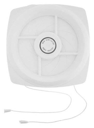 Вентилятор вытяжной Zein, с жалюзи, шнурковый выключатель, провод, D=140 мм, 220 В  Zein